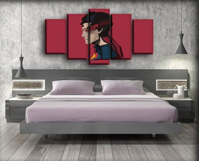 Superman - Side View Art Work - Canvas Monsters