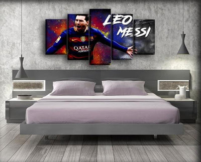 Barcelona - Leo Messi - Canvas Monsters