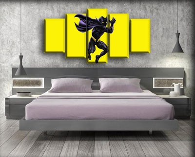 Black Panther - The Yellow Background - Canvas Monsters