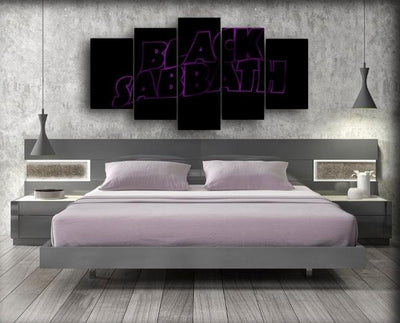 Black Sabbath - Purple Accent - Canvas Monsters