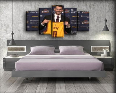 Kevin Love - Showing The Jersey