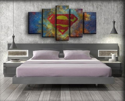 Superman - Logo Abstract Background - Canvas Monsters