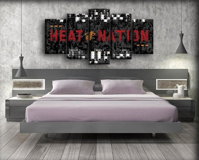 Miami Heat 5 - Canvas Monsters