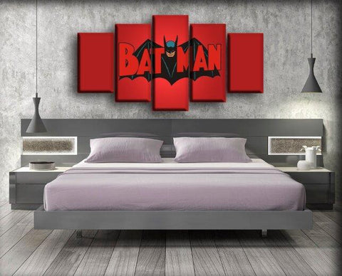 Image of Batman - Vintage In Red Background