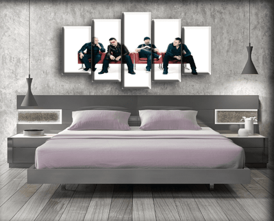 U2 - Band Portrait in White Background - Canvas Monsters