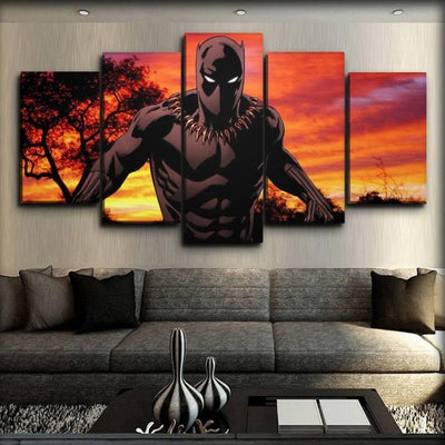 Black Panther - Amber Sunset Comics - Canvas Monsters