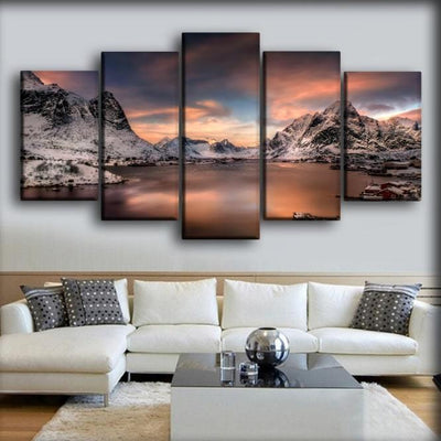 Lofoten Norway Houses - Canvas Monsters