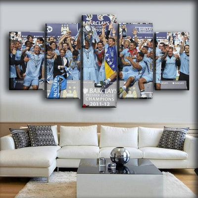 Manchester City - 2012 Premier League - Canvas Monsters