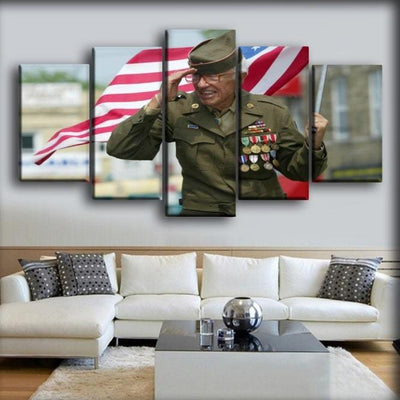 Military Veteran - Marching And Proud - Canvas Monsters