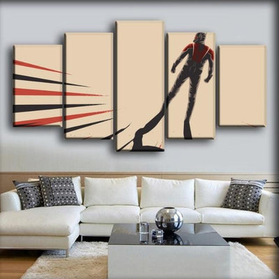 Ant man - Look Back Beige Background - Canvas Monsters