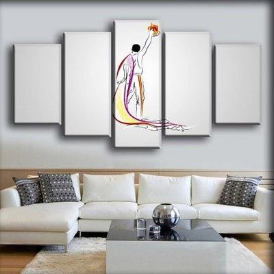 Queen - Freddie Mercury Silhouette Sketch Art - Canvas Monsters