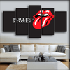 The Rolling Stone - The Tongue in Dark Gray Background - Canvas Monsters