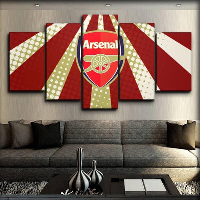 Arsenal - Red And White - Canvas Monsters