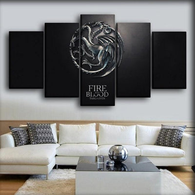 Game Of Thrones - Fire And Blood - Canvas Monsters