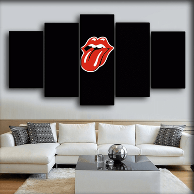 The Rolling Stone - Retro Tongue - Canvas Monsters