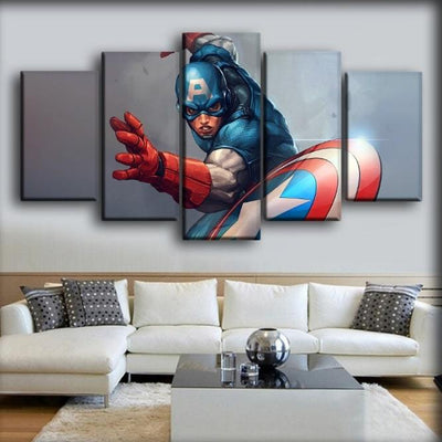 Captain America - The Cartoon Version - Canvas Monsters