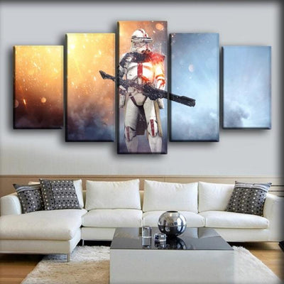 Star Wars - Fire And Ice Background - Canvas Monsters