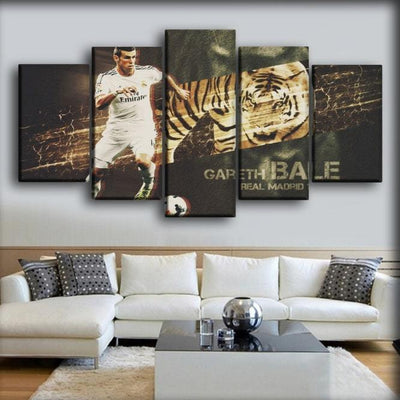 Real Madrid - Bale The Tiger - Canvas Monsters