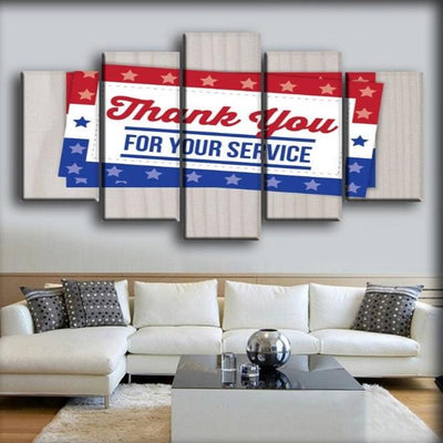 Military Veteran - Thank You For Your Service - Canvas Monsters