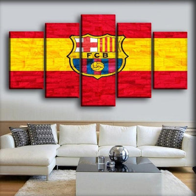 Barcelona - King Of Spain - Canvas Monsters