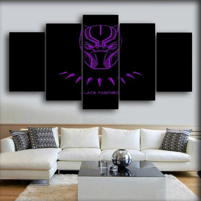 Black Panther - Purple Neon - Canvas Monsters