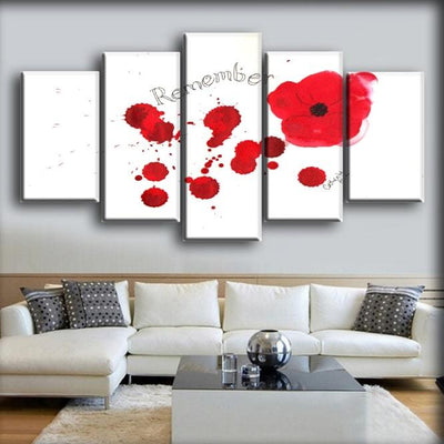 Military Veteran - Remember Drops Of Blood Art Work - Canvas Monsters