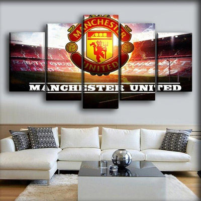 Manchester United - Field Background - Canvas Monsters