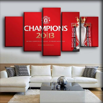 Manchester United - Champions 2013 - Canvas Monsters