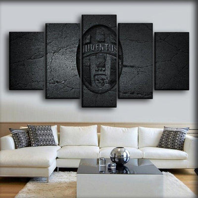 Juventus In Black - Canvas Monsters