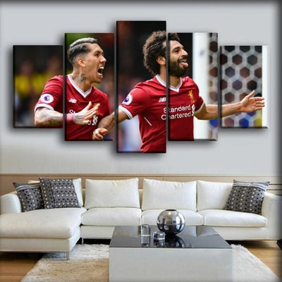 Liverpool - Salah & Firmino - Canvas Monsters