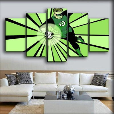 Green Lantern - Ray Of Green Light - Canvas Monsters