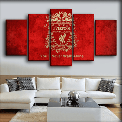 Liverpool - The Reds You Will Never Walk Alone - Canvas Monsters