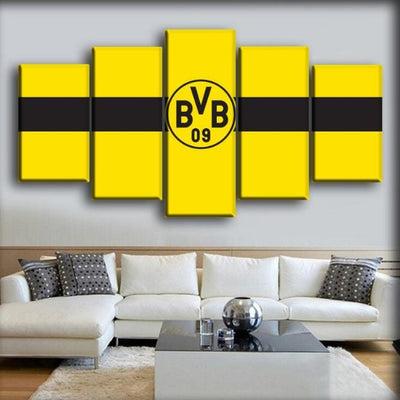 Borussia Dortmund - Full Yellow And Center Black Stripe - Canvas Monsters