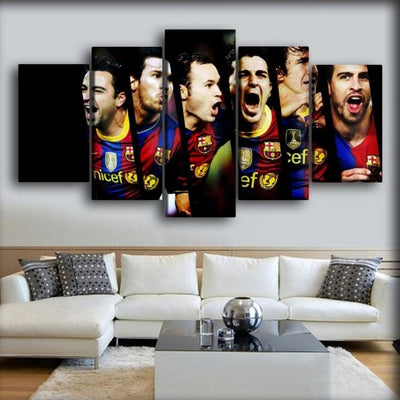 Barcelona - Faces Of Champion - Canvas Monsters