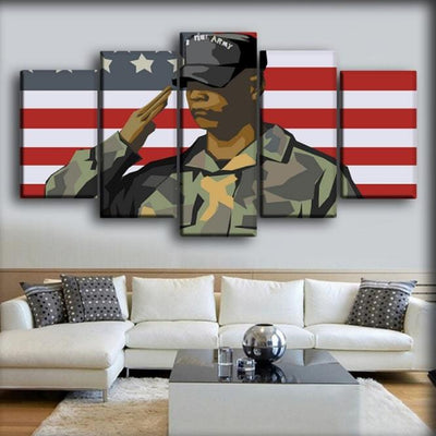 Military Veteran - Salute To The Veterans - Canvas Monsters