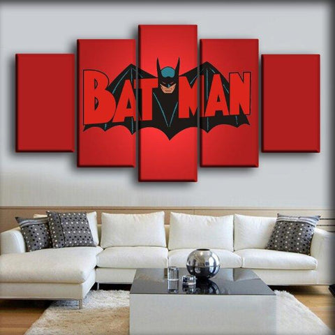 Batman - Vintage In Red Background