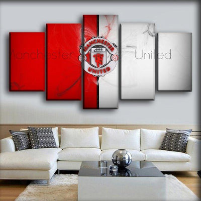 Manchester United - Red And White - Canvas Monsters