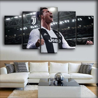 Juventus - Roanldo Celebration - Canvas Monsters