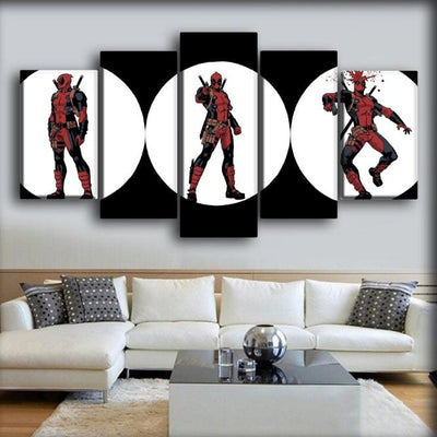 Dead Pool - 3 White Circles - Canvas Monsters