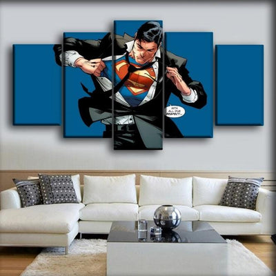 Superman - With All Due Respect - Canvas Monsters
