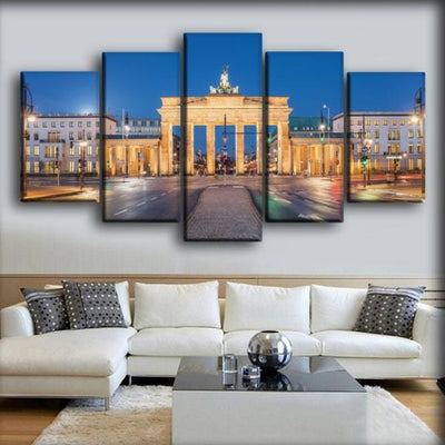 Germany Berlin Houses Evening Roads Brandenburg - Canvas Monsters
