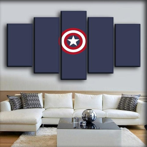 Captain America - Icon in Navy Blue Background