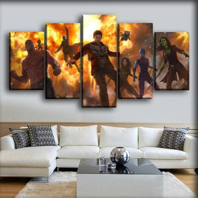 Guardians of the Galaxy  - On Fire - Canvas Monsters