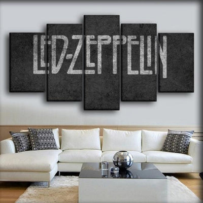 Led Zeppelin - Classic Gray Background - Canvas Monsters