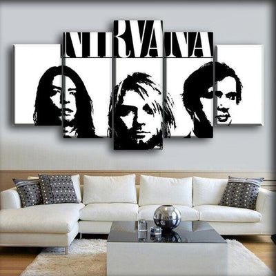 Nirvana - The Three On White - Canvas Monsters