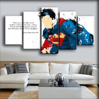 Superman - Your Stronger Than You Think - Canvas Monsters
