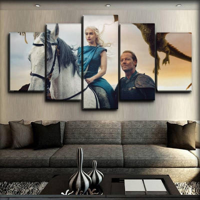 Game Of Thrones - Jorah And Daenerys - Canvas Monsters
