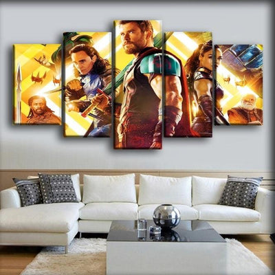 Thor - Loki And Valkyrie In Ragnarok - Canvas Monsters