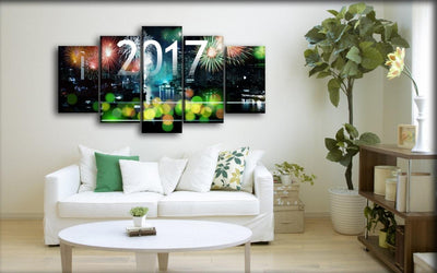 Christmas Fireworks - Canvas Monsters