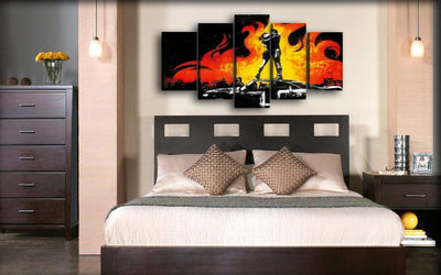 Green Day - Couple On Fire - Canvas Monsters